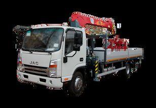 JAC Бортовой автомобиль с КМУ FG-414 camión caja abierta nuevo
