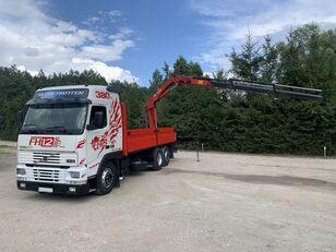 VOLVO FH12 380 KM / 6X2 / SKRZYNIA 6.60 M + ŻURAW HMF / UDŹWIG 4100 KG camión caja abierta