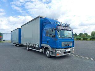 MAN TGL 8.240 camión con lona corredera + remolque con lona corredera