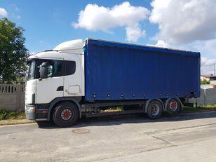 SCANIA 114-380 (6X2 / MANUAL GEARBOX / RETARDER) camión con lona corredera