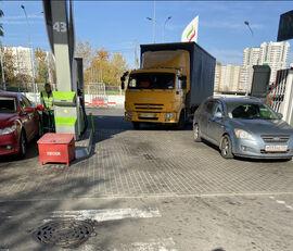 KAMAZ 4308 camión con lona corredera + remolque con lona corredera