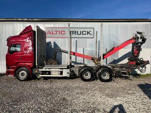 SCANIA R580, 6x4 + CRANE, EURO6, RETARDER camión maderero