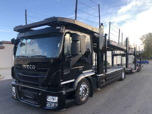 IVECO AT190S,460 E-6,Retarder + Kassbohrer APT003(rozsuwana), 9/10aut, camión portacoches + remolque portacoches