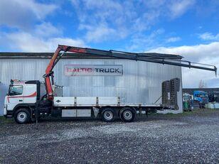 VOLVO FM400, 6x2 + CRANE + HYDRAULIC RAMPS camión portacoches