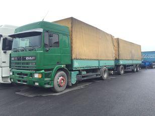 DAF 95.430 ATI EURO2 + SCHARZMULLER camión toldo + remolque toldo