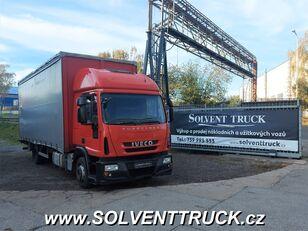 IVECO Eurocargo 120E25, Euro 5,shrnovačka + čelo, manuál camión toldo