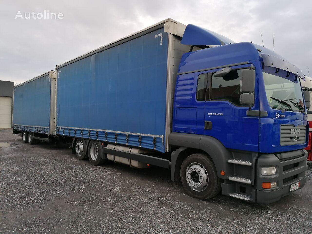 MAN TGA 24.430 camión toldo + remolque toldo