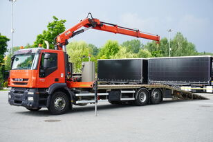 IVECO Stralis 360, EEV, 6x2, 7.8m tow truck, lift axle , CRANE HIAB ma grúa portacoches