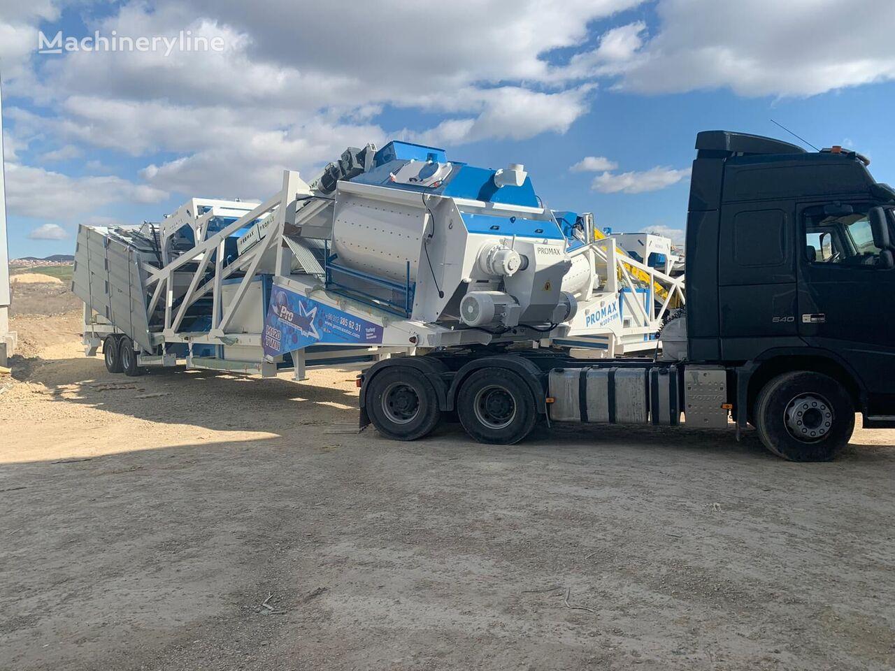 PROMAX Mobile Concrete Batching Plant M120-TWN (120m3/h) planta de hormigón nueva